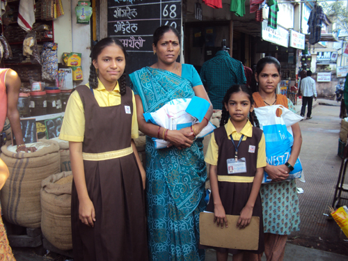 Donor sponsor RATION for students families who are living below poverty line